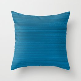 Absolute Ocean Blue Texture Throw Pillow