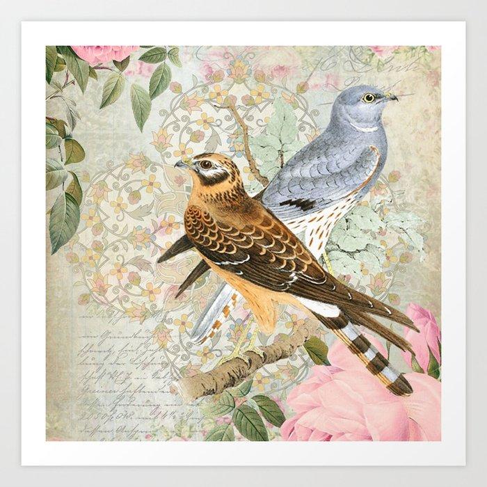 Vintage birds Kunstdrucke