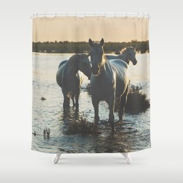 Camargue Horses III ... Shower Curtain