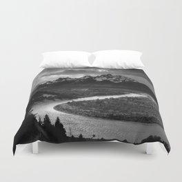 Ansel Adams - The Tetons and Snake River Duvet Cover