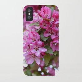 Deep pink blossom iPhone Case