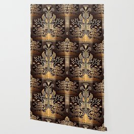 Art Deco Floral Tapestry Wallpaper