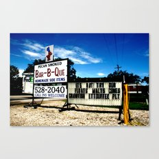Pecan Smoked BBQ, Louisiana  Canvas Print