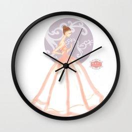 Peachy Dreams Wall Clock
