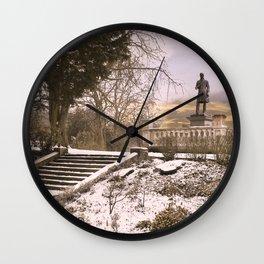 Snow Covered Locke Park  Wall Clock