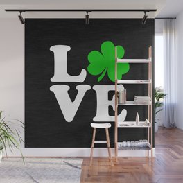 Love with Irish shamrock Wall Mural