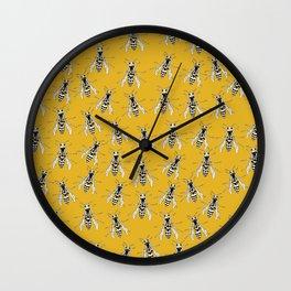 Warm Wasps Wall Clock