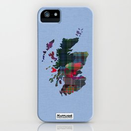 Scotland Counties Fabric Map Art iPhone Case