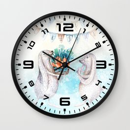 Christmas bunny #2 Wall Clock