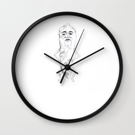 mr cheeto man Wall Clock