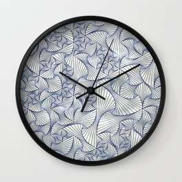 Reverie (in Ivory and Blue) Wall Clock