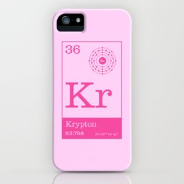 Periodic Elements - 36 Krypton (Kr) iPhone Case