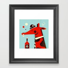Drunk giraffe ... Framed Art Print