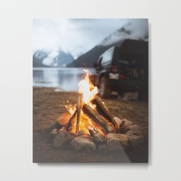 Around a Campfire Metal Print