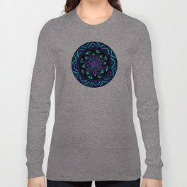 Papercut circle pattern Colour Long Sleeve T-shirt
