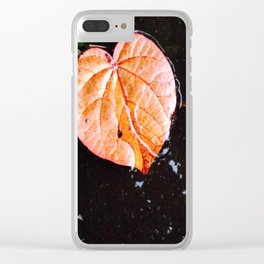 Golden Leaf Clear iPhone Case
