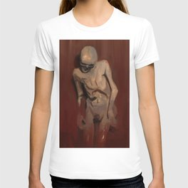 Emerging skeleton from death to life illustration T-shirt