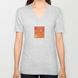 Pink and Yellow Moon Unisex V-Neck