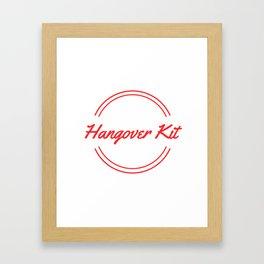 Hangover Kit Framed Art Print