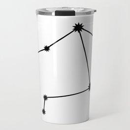 Libra Star Sign Black & White Travel Mug