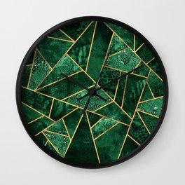Deep Emerald Wall Clock