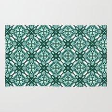Watercolor Green Tile 3 Rug