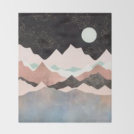 Midnight Stars Throw Blanket