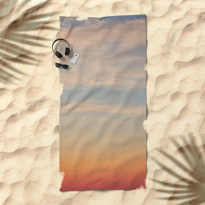Sunset Sky Beach Towel