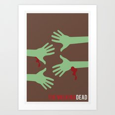 The Walking Dead - Minimalist Art Print