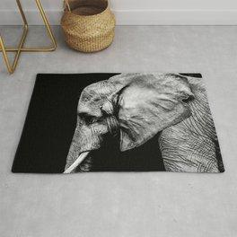 Elephant Portrait BW Rug