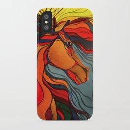 Wild Horse Breaking Free Southwestern Style iPhone Case