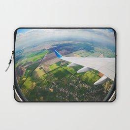 View through airplane porthole  Laptop Sleeve