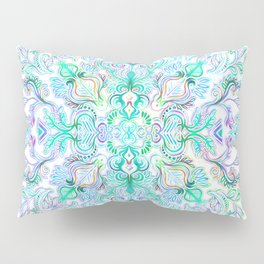 Painted Rainbow Doodles Pillow Sham