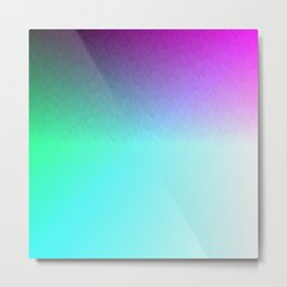 Six Color Ombre Cyan, Purple, Green, Pink, Purple, Blue, Spectrum Flame Texture  Metal Print