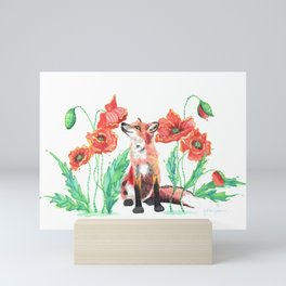 Pause & Smell the Poppies Mini Art Print