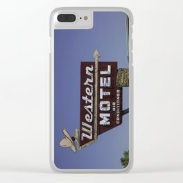 Western Motel on Route 66 Clear iPhone Case