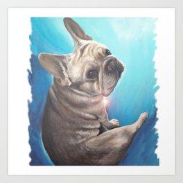 Bruce in Blue Art Print
