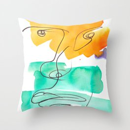 10    One Line Drawing    190415   Throw Pillow