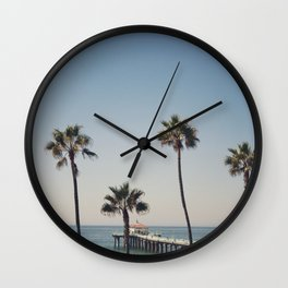Manhattan Beach Pier Wall Clock