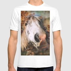 Portrait of Beauty MEDIUM Mens Fitted Tee White