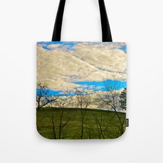 Morning at the Top of the Hill Tote Bag