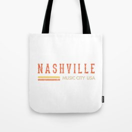 Vintage Country Music Nashville, Souvenir, Gift, Road Trip print Tote Bag