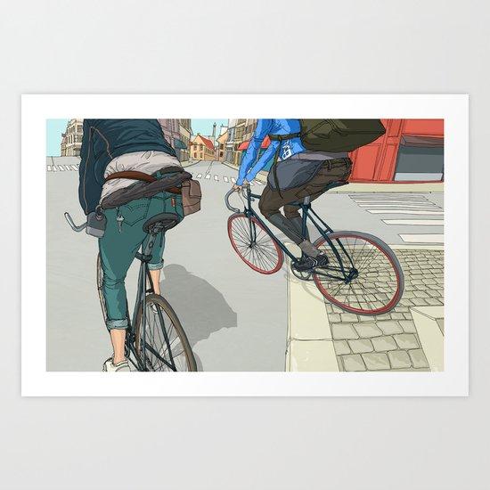 City traveller Art Print