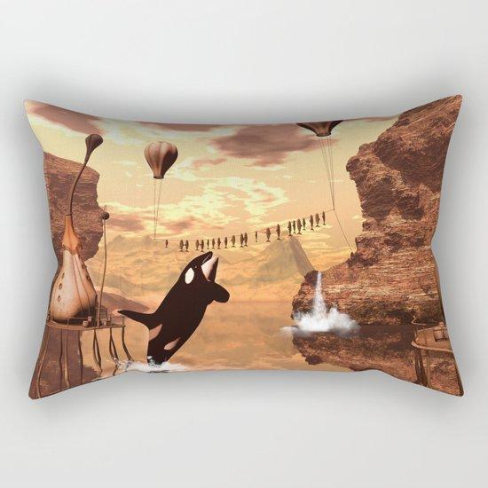 Funny orca Rectangular Pillow