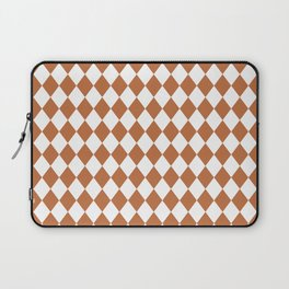 Hazel Brown Modern Diamond Pattern Laptop Sleeve