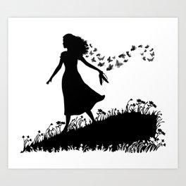 Butterfly meadow Art Print