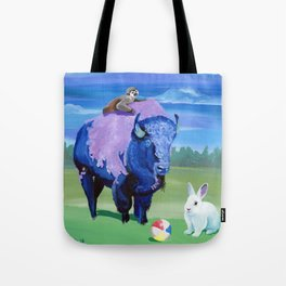 Beach Ball Bison Tote Bag