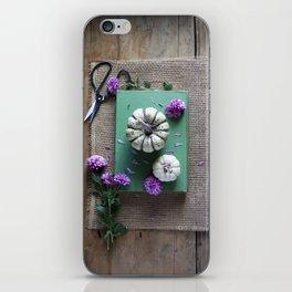 Mums and Pumpkins - Fall Favorites iPhone Skin