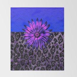 Purple Animal Print and Medallion Throw Blanket