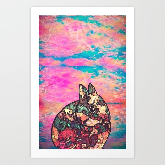 rabbit-73 Art Print